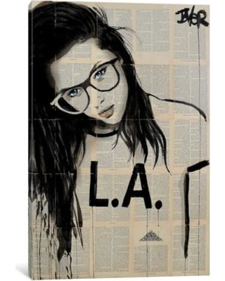 "East Urban Home 'L.A.' Painting Printt on Wrapped Canvas ESHM1077 Size: 26"" H x 18"" W x 0.75"" D"