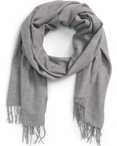 Women's Nordstrom Tissue Weight Wool & Cashmere Scarf, Size One Size - Grey