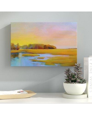 Remarkable Deals On Latitude Run Summer Marsh 2 Painting Print On Wrapped Canvas Canvas Fabric In Brown Blue Green Size 16 H X 24 W X 2 D Wayfair