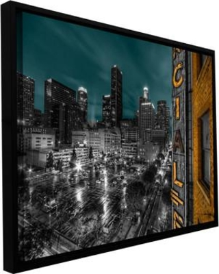 """ArtWall 'L.A.' by Revolver Ocelot Framed Photographic Print on Wrapped Canvas, Canvas & Fabric in Brown/Black, Size 32"""" H x 48"""" W 