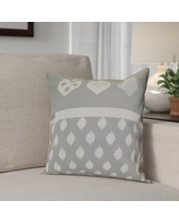 """The Holiday Aisle Hanukkah 2016 Decorative Holiday Geometric Outdoor Throw Pillow HLDY6582 Size: 16"""" H x 16"""" W x 2"""" D, Color: Gray"""
