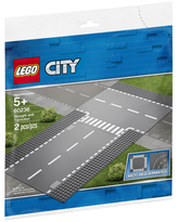 LEGO City - Straight and T-junction - Building & Construction for Ages 5 to 9 - Fat Brain Toys