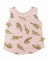 Earth Baby Outfitters Baby Girls Organic Cotton Leopard Tank Top - Pink