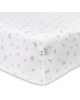 Burt's Bees Baby® Butterfly Garden Organic Cotton Fitted Crib Sheet in Blossom