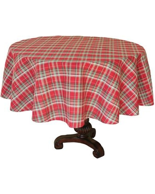 "The Holiday Aisle Holiday Tartan Christmas Round Tablecloth THDA4990 Size: 70"" L x 70"" W"