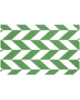 "Breakwater Bay Calusa Geometric Print Throw Blanket BRWT5999 Size: 60"" L x 50"" W, Color: Leaf (Green)"