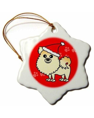 Find Deals On The Holiday Aisle Cute Pomeranian W Santa Hat Holiday Shaped Ornament Ceramic Porcelain In Purple Size 3 H X 3 W Wayfair