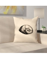 "East Urban Home Jetty Printables Illustrated Sea Shell 2 Throw Pillow EUHG3408 Size: 20"" x 20"""