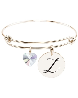 Initial Bangle made with Crystals from Swarovski - Z