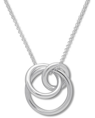 Circle Necklace Sterling Silver