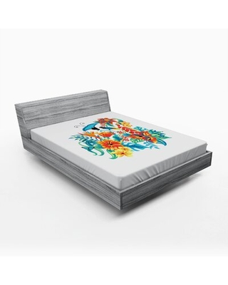 Floral Fitted Sheet East Urban Home Size: Full