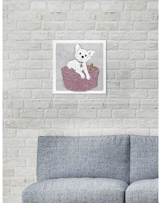 """Art Remedy Dogs and Puppies 'Chihuahua and Glam' Graphic Art Print on Wrapped Canvas 25841_XHD Size: 12"""" H x 12"""" W x 1.5"""" D"""
