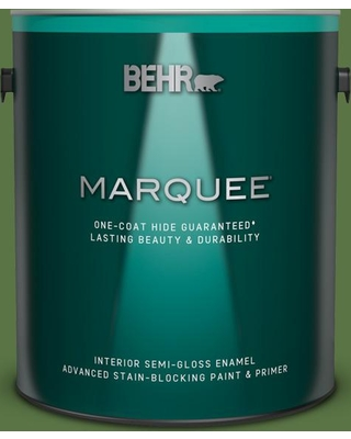 BEHR MARQUEE 1 gal. #420D-7 Dill Pickle Semi-Gloss Enamel Interior Paint and Primer in One