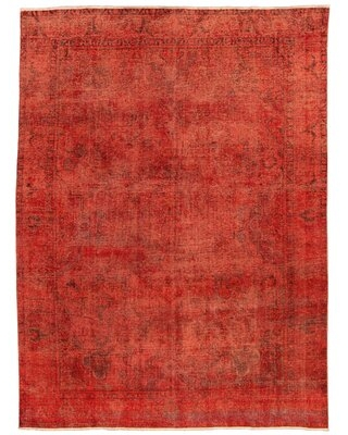 """One-of-a-Kind Deniese Hand-Knotted 1980s 9'4"""" x 12'4"""" Wool Area Rug in Dark Copper"""