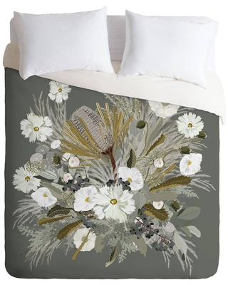 Can T Miss Deals On Queen Full Iveta Abolina Sage Floral Comforter Set Gray Deny Designs
