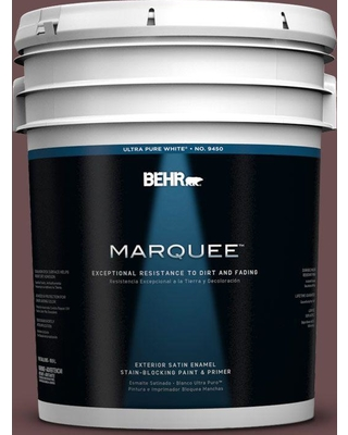 BEHR MARQUEE 5 gal. #130F-7 Semi Sweet Satin Enamel Exterior Paint and Primer in One