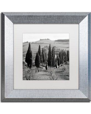 """Trademark Art 'Tuscany IV' Framed Photographic Print ALI5102-S1 Size: 11"""" H x 11"""" W x 0.5"""" D Mat Color: White"""