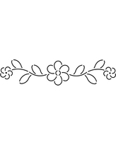 """Quilting Creations Floral Border Quilt Stencil, 11 x 3"""""""