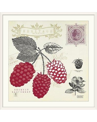 """Great Big Canvas 'Raspberry Notes' Graphic Art Print 1166592_1 Size: 28"""" H x 28"""" W x 1"""" D Format: White Framed"""