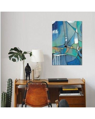 """East Urban Home 'Rose Bud II' Graphic Art Print on Wrapped Canvas ESUH7727 Size: 26"""" H x 18"""" W x 1.5"""" D"""