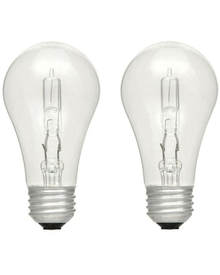 EcoSmart 40-Watt Equivalent A19 Dimmable Clear Eco-Incandescent Light Bulb Soft White (2-Pack)