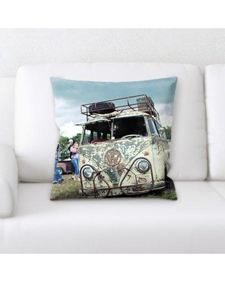 Latitude Run Nadeau Old and Abandoned Throw Pillow BF135658