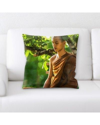 East Urban Home Meditation Throw Pillow W000847954
