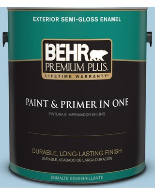 BEHR Premium Plus 1 gal. #M500-2 Early September Semi-Gloss Enamel Exterior Paint and Primer in One