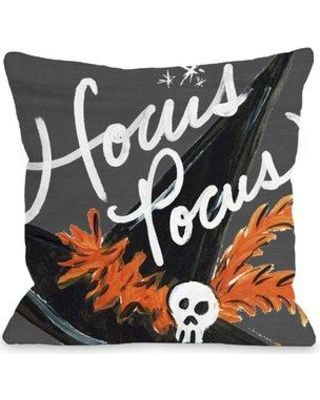 "The Holiday Aisle Halloween Hat Hocus Pocus Throw Pillow THDA6012 Size: 16"" x 16"""