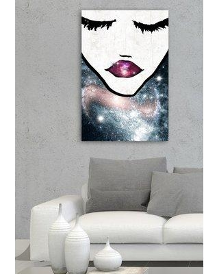 """House of Hampton Cosmic Coveted Painting Print on Wrapped Canvas HOHN7763 Size: 60"""" H x 40"""" W x 2"""" D"""