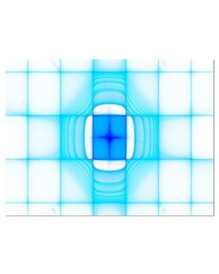 """Design Art 'Blue Thermal Infrared Visor' Print PT16053- Format: Wrapped Canvas Size: 8"""" H x 12"""" W x 1"""" D"""