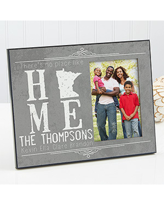 Personalized State Of Love Picture Frame - State Map