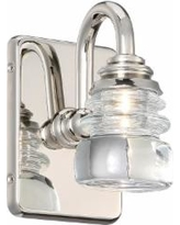 dweLED Rondelle 6 Inch LED Wall Sconce - WS-42505-PN