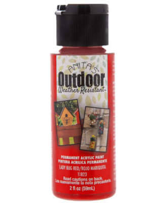 Lady Bug Red Anita's Outdoor Weather Resistant Acrylic Paint