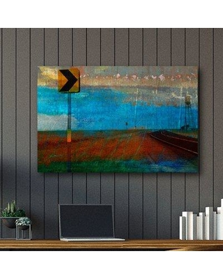 Ebern Designs 'Road and Windmill' Graphic Art Print on Wrapped Canvas EBDG3025