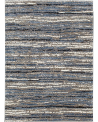 Great Sales On Home Decorators Collection Shoreline Blue Multi 5 Ft X 7 Ft Striped Area Rug