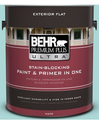 BEHR ULTRA 1 gal. #510C-3 Rivers Edge Flat Exterior Paint and Primer in One