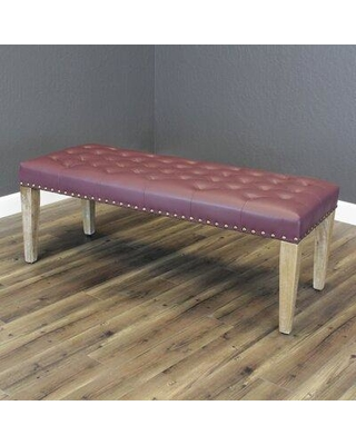 Gracie Oaks Whipton Faux Leather Bench W001446245 Upholstery : Wine