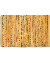 DII Home Essentials Rag Rug for Kitchen, Bathroom, Entry Way, Laundry Room and Bedroom, 4 x 6-Feet, Mustard