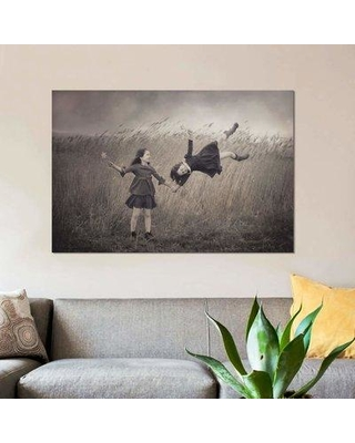 "East Urban Home 'Windy Fairy Tales' Graphic Art Print on Canvas EBHU5985 Size: 26"" H x 40"" W x 0.75"" D"