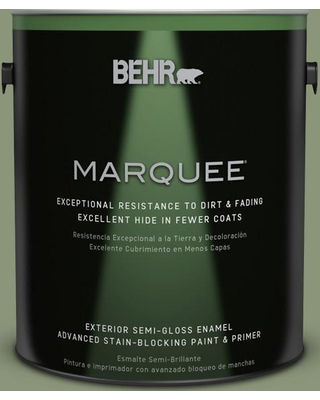 BEHR MARQUEE 1 gal. #420F-5 Olivine Semi-Gloss Enamel Exterior Paint and Primer in One