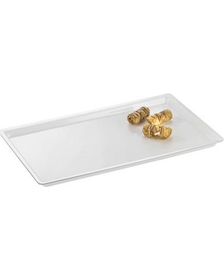 """Cal-Mil Shallow Serving Tray 325-10-12 Size: 1"""" H x 20"""" W x 12"""" D Color: Clear"""