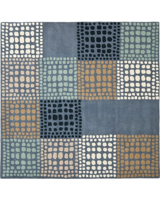 Amazing Deals On Gray Multi Abstract Tufted Square Area Rug