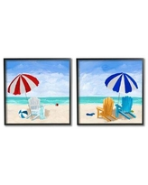 Amazing Savings On Tide Crash To Shore Nautical Beach Watercolor 2 Piece Floater Frame Graphic Art Print Set On Canvas Stupell Industries Format Gray Framed Size 20