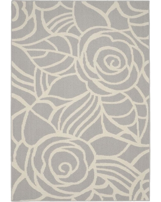 Garland Rug Rhapsody Silver/Ivory 5 ft. x 7 ft. Area Rug