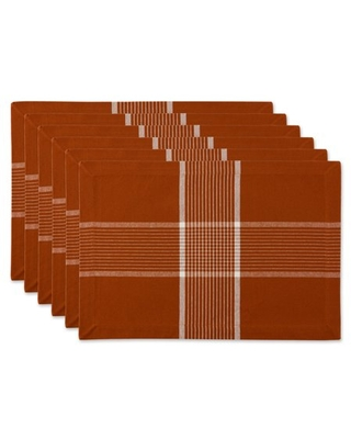 DII Fiesta Rust Check Placemat (Set of 6)