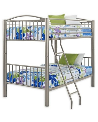 Powell Carlyle Twin/Twin Bunk Bed in Pewter