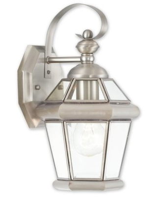 """Avon Outdoor Wall Lantern Darby Home Co Size: 15"""" H x 8.25"""" W x 8"""" D, Finish: Brushed Nickel"""