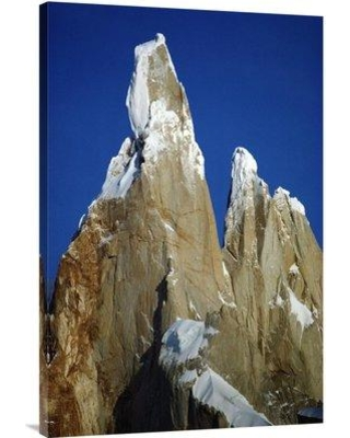 """East Urban Home 'Morning Sun on Granite Spires Cerro Torre Los Glaciares NP Argentina' Photographic Print EAUB4754 Size: 36"""" H x 24"""" W Format: Wrapped Canvas"""