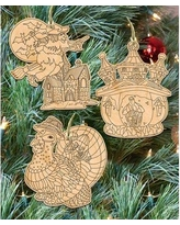 The Holiday Aisle 3 Piece Do It Yourself Holidays Shaped Ornament Set BI079661